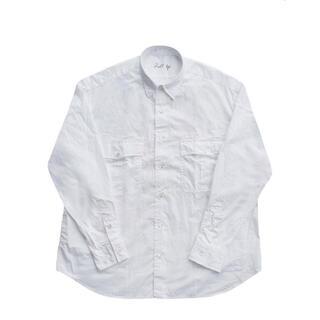 ポーター(PORTER)のポータークラシック ロールアップシャツ スピンゴールド白 L 良品(シャツ)