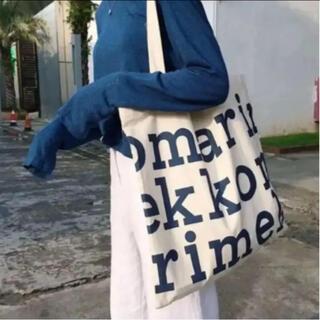 marimekko - マリメッコ ロゴトートバッグ ブルー