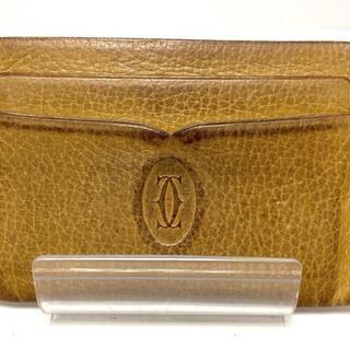 カルティエ(Cartier)のカルティエ カードケース - ライトブラウン(名刺入れ/定期入れ)