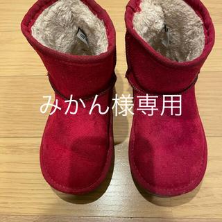 ベベ(BeBe)のBEBE ムートンブーツ キッズ16センチ(ブーツ)