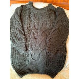 ダチュラ(DaTuRa)のDaTuRa 肩あき黒ニット(ニット/セーター)