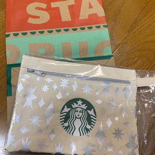 スターバックスコーヒー(Starbucks Coffee)の新品未使用 スターバックス 非売品 ホリデーポーチ 1番人気柄 (ノベルティグッズ)