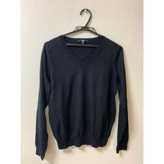 UNIQLO - ユニクロレディースXL カシミア混 セーター黒