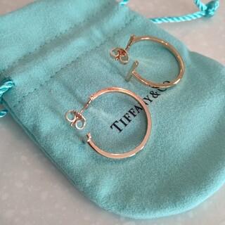 Tiffany & Co. - ティファニー TIFFANYTスマイル フープ ピアス ローズゴールド