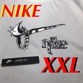 NIKE - 在庫限定最終値下げ⭐️ナイキ シルバー メタリックロゴ  Tシャツ XXL