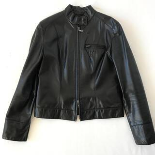 ANAYI - ANAYI  アナイ 牛革 レザージャケット ライダースジャケット ブラック