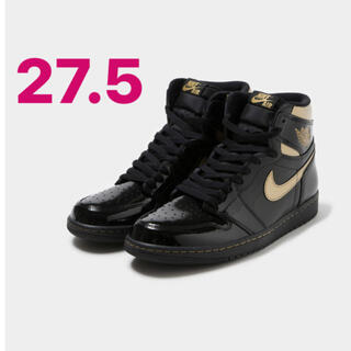 NIKE - NIKE AIR JORDAN1 HIGH OG BLACK METALLIC