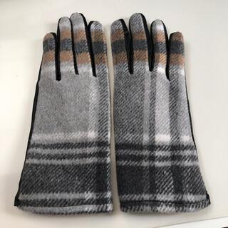 ザラ(ZARA)のria♡様 【試着のみ】ZARA チェック柄 手袋 エコレザー トラッド(手袋)