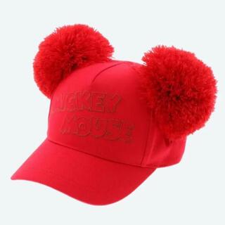 Disney - 定価以下 ディズニー ミッキー ポンポン キャップ レッド 赤