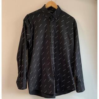 Balenciaga - 【BALENCIAGA】19SS ロゴプリント シャツ ブラック 総柄