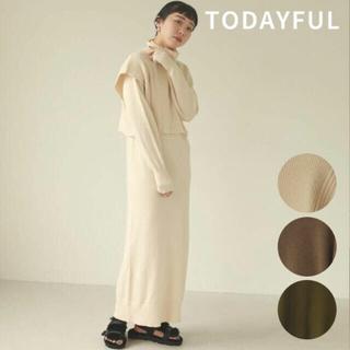 TODAYFUL - 2020AW新品TODAYFULレイヤードニットドレス