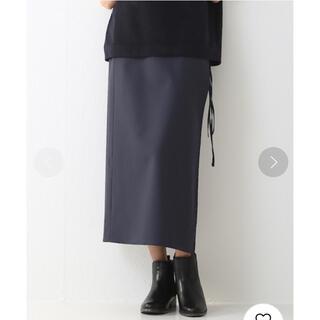 アパルトモンドゥーズィエムクラス(L'Appartement DEUXIEME CLASSE)の36Quatre-Neuf ウールタイプライタースカート 巻きスカート ロング(ロングスカート)