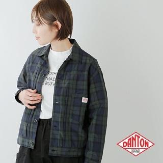 新品未使用★DANTON★ナイロンタフタチェックシャツジャケット