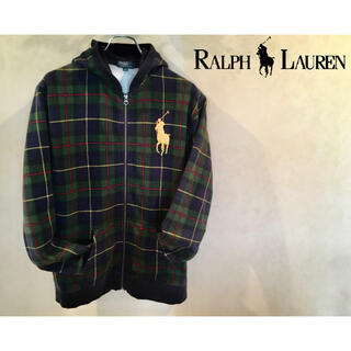 POLO RALPH LAUREN - [古着] RALPH LAUREN パーカー 刺繍ロゴ ZIPパーカー ジップ