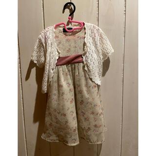キャサリンコテージ(Catherine Cottage)の美品 キャサリンコテージ ワンピース ドレス レースボレロセット サイズ90(ドレス/フォーマル)