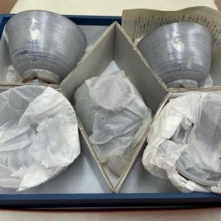 タチキチ(たち吉)のたち吉 サギ絵 お茶のみ 湯呑 コップ 鷺 5客セット 5人用 O112(食器)