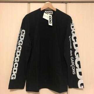 コムデギャルソン(COMME des GARCONS)の送料込新品 コムデギャルソン エアラインロゴ ロングスリーブ 黒(Tシャツ/カットソー(七分/長袖))