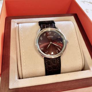 Hermes - HERMES アルソー GM 美品 ブロンズ ブラウン メンズ 腕時計