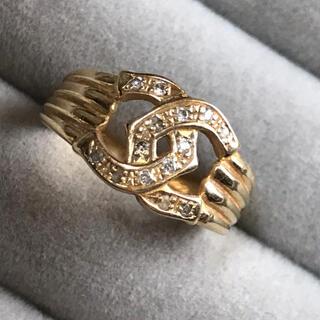K18 ダイヤモンド 0.09ct ファッション リング
