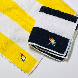 アーノルドパーマー(Arnold Palmer)のアーノルドパーマー ボーダー タオルハンカチ 2枚セット(ハンカチ)