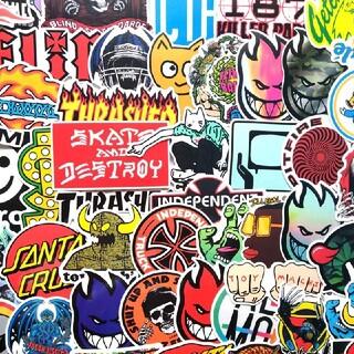 スケボーステッカー ◆100枚セット ステッカーボムに!(スケートボード)
