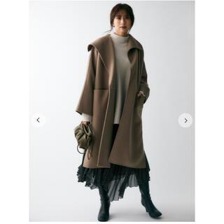 ミラオーウェン(Mila Owen)のmilaowen 衿デザインハーフコート(ロングコート)