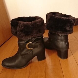 レディース ファー ブーツ Sサイズ  22~22.5cm 黒(ブーツ)