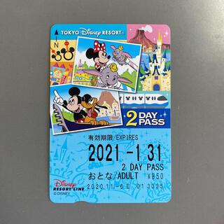 ディズニー(Disney)のディズニー リゾートライン 2DAY PASS 未使用 大人1枚(その他)