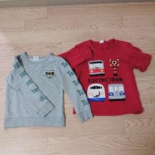 エフオーキッズ(F.O.KIDS)の電車トレーナー2枚セット(Tシャツ/カットソー)