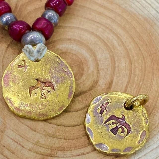 goro's(ゴローズ)のgoro′s オールドゴローズタタキメタル 中央部18金ロウ付け メンズのアクセサリー(ネックレス)の商品写真