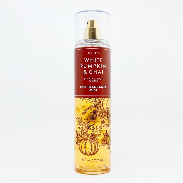 Bath & Body Works(バスアンドボディーワークス)のBBW White Pumpkin & Chai ボディーミスト   コスメ/美容の香水(香水(女性用))の商品写真