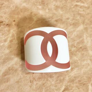 CHANEL - 正規品 シャネル バングル ワイド ココマーク デカ ロゴ ピンク ブレスレット