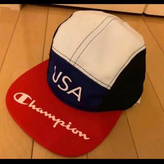 チャンピオン(Champion)のChampion  キャップ USAロゴ チャンピオン ジェット 帽子 レッド(キャップ)