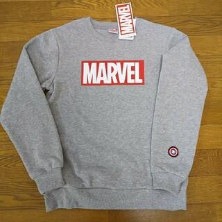 マーベル(MARVEL)の160cm  新品  マーベル ロゴ 裏起毛 グレー  トレーナー(Tシャツ/カットソー)