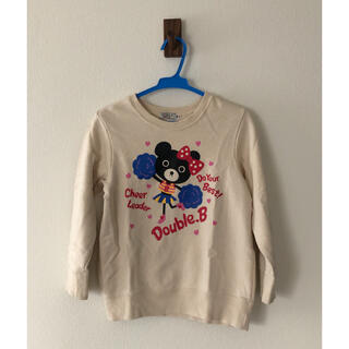 ダブルビー(DOUBLE.B)のミキハウス ダブルビー トレーナー120(Tシャツ/カットソー)