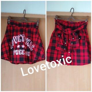 ラブトキシック(lovetoxic)のLovetoxic  ラブトキ★シャツ絞り可愛いチェックスカート(スカート)
