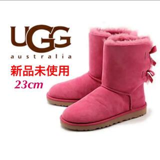 アグ(UGG)の新品未使用 アグ ugg ムートンブーツ ピンク 23cm(ブーツ)