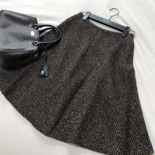 PRADA - PRADA ツイード フレア スカート プラダ
