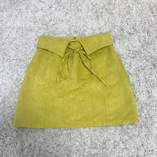 ムルーア(MURUA)のMURUA スウェード生地 スカート(ミニスカート)