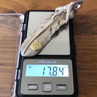 ゴローズ(goro's)のゴローズ k18メタル付き銀爪特大フェザー 左向き(ネックレス)