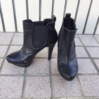 エスペランサ(ESPERANZA)のESPERANZA♡サイドゴアショートブーツ♡人気ブラックS♡10.5㌢ヒール♡(ブーツ)