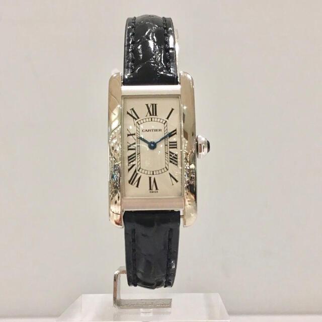 Cartier(カルティエ)の美品✨カルティエ Cartier K18WGタンクアメリカンSM 腕時計 レディースのファッション小物(腕時計)の商品写真