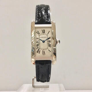 Cartier - 美品✨カルティエ Cartier K18WGタンクアメリカンSM 腕時計