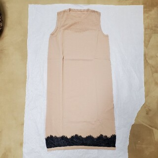 ダブルスタンダードクロージング(DOUBLE STANDARD CLOTHING)の新品同様❗ダブルスタンダード/ノースリーブニットワンピース(ひざ丈ワンピース)