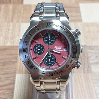 シチズン(CITIZEN)の美品【CITIZEN/シチズン】クロノグラフ メンズ腕時計0510-S96443(腕時計(アナログ))