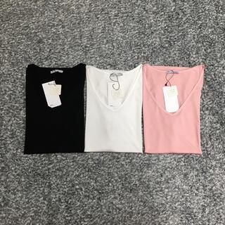 ZARA - 【まとめ売り】ZARA BASIC VネックTシャツ3点セット