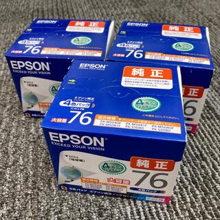 エプソン(EPSON)のEPSON 純正インクカートリッジ IC4CL76 大容量(目印:地球儀)(OA機器)