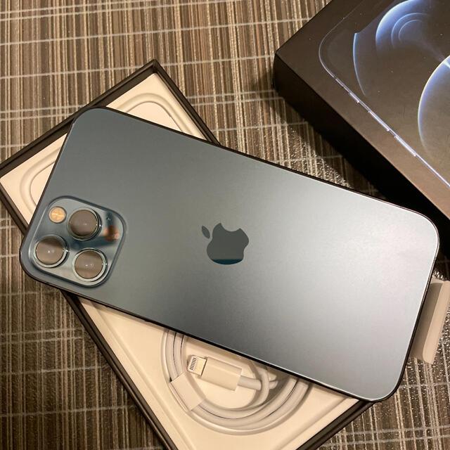 Apple(アップル)の極上品 iPhone12 Pro  パシフィックブルー 128GB 香港版 スマホ/家電/カメラのスマートフォン/携帯電話(スマートフォン本体)の商品写真