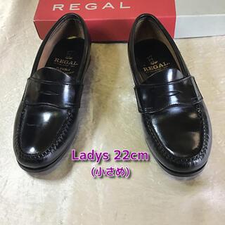 REGAL - リーガル コインローファー22cm ブラック ビジネスシューズ 革靴キッズ