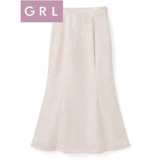 GRL - 【タグ付き新品未使用】コーデュロイマーメイドスカート[k8584v] アイボリー